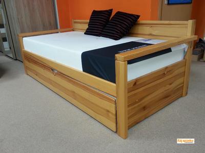Alika II. rozkládací postel, 90/180 x 200 | dub | mořené  - 4