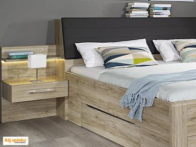 Beny - Set postel s nočními stolky a úložným prostorem - 4