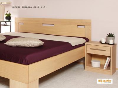 180x200 | čelo A | 60 Lak ořech | LAMINO BOX - 4