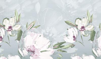 Květina šedo-fialová Povlečení - 5