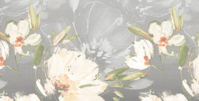 Květina šedo-oranžová Povlečení - 5