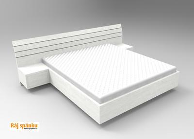 Flora postel s nočními stolky - 5