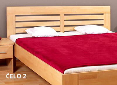 Leona postel s úložným prostorem, 160x200 | buk 82 americká třešeň - 5