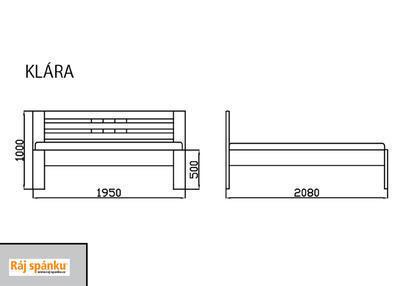 Klára Postel 4cm masiv - 6