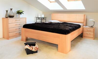 Manhattan 1 masivní postel, 180x200 | 60 Lak ořech - 6