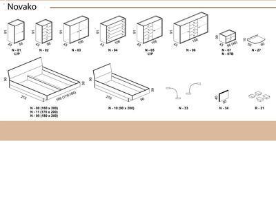Novako postel s úložným prostorem - 6