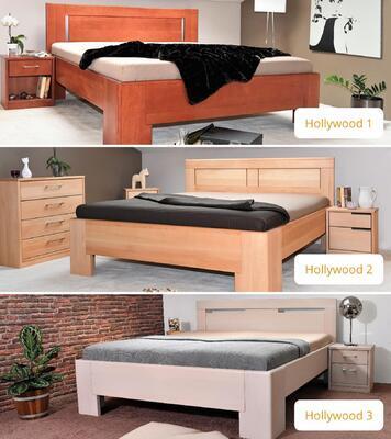 Hollywood 2 vysoká celomasivní postel - 7