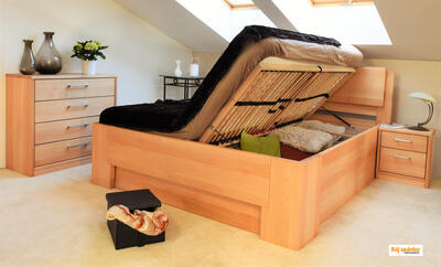 Manhattan 1 masivní postel, 180x200 | 60 Lak ořech - 7