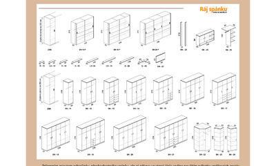 Novako postel s úložným prostorem - 7