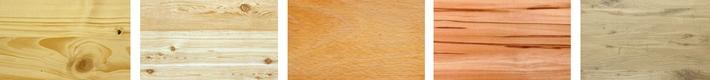Dřeviny smrk, borovice, buk, jádrový buk, dub