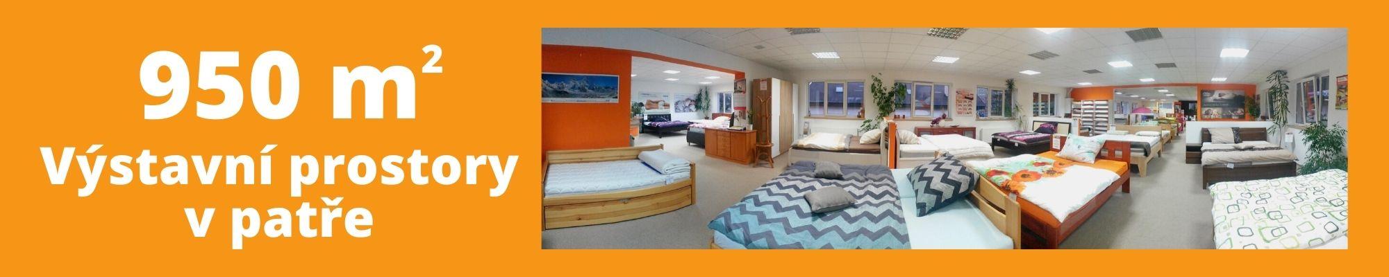 Výstavní prostory v patře 950m2